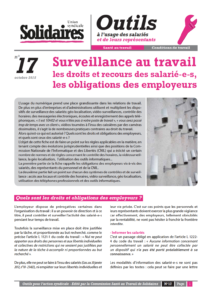 Fiche N 17 Surveillance Au Travail Les Droits Et Recours Des