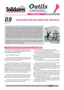 Fiche N 9 Les Services De Sante Au Travail La Petite Boite A Outils